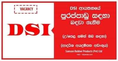 IT OFFICER – DSI-Samson Rubber Products (Pvt) Ltd