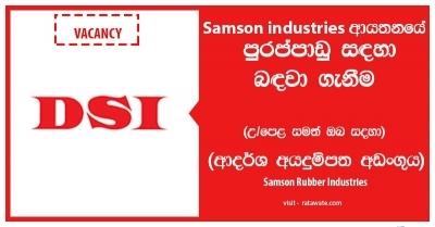 Junior Network Administrator – Samson Rubber Industries