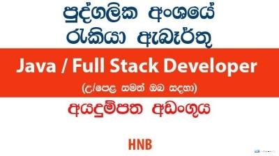 Java / Full Stack Developer – HNB