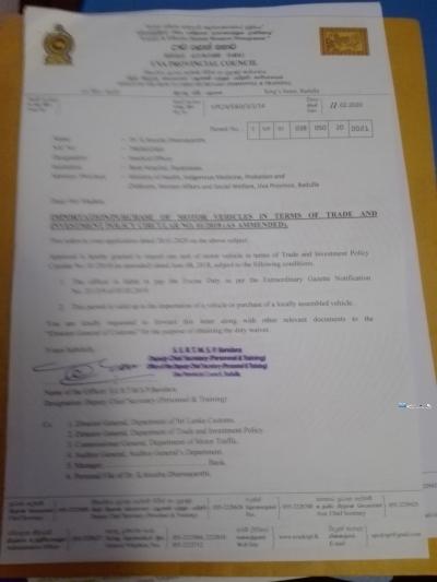 Doctor Vehicle Permit