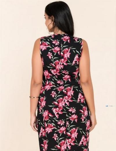 Sleeveless Printed Party Dress Price in Srilanka