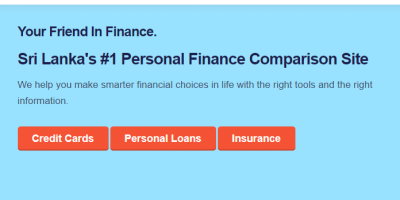 Personal Finance Comparison Site