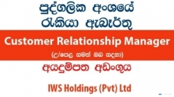 Customer Relationship Manager (After Sales) – IWS Holdings (Pvt) Ltd
