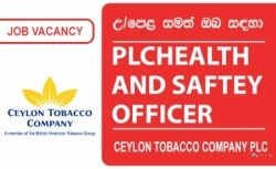 PLCHEALTH AND SAFTEY OFFICER – Ceylon Tobacco Company