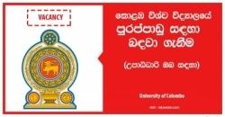 Temporary Instructor – University of Colombo
