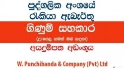 Accounts Assistant (Colombo) – W. Punchibanda & Company (Pvt) Ltd