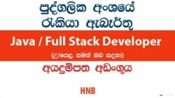 Java / Full Stack Developer – HNB