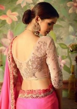 Designer Pink Saree with Jacket Price in Srilanka