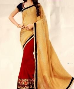 Designer Red & Gold Saree Price in Srilanka