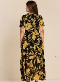 Printed Front Overlap Party Dress Price in Srilanka